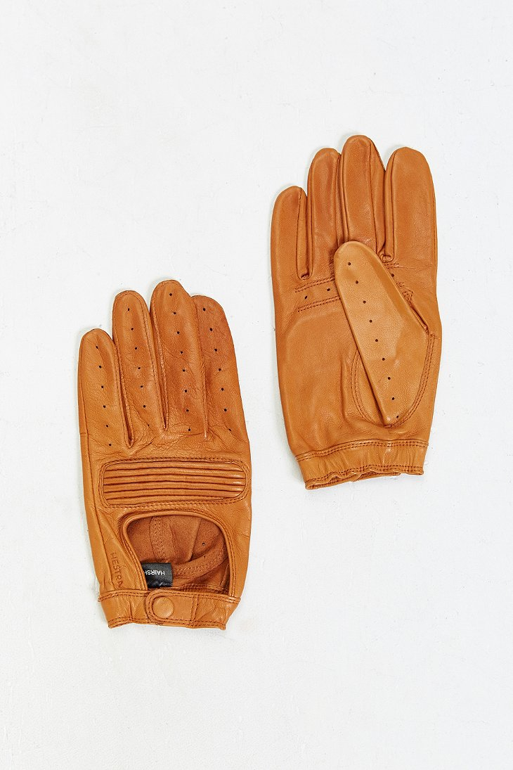 Wheelskins leather driving gloves -  Hestra Leather Driving Glove In Brown For Men Lyst