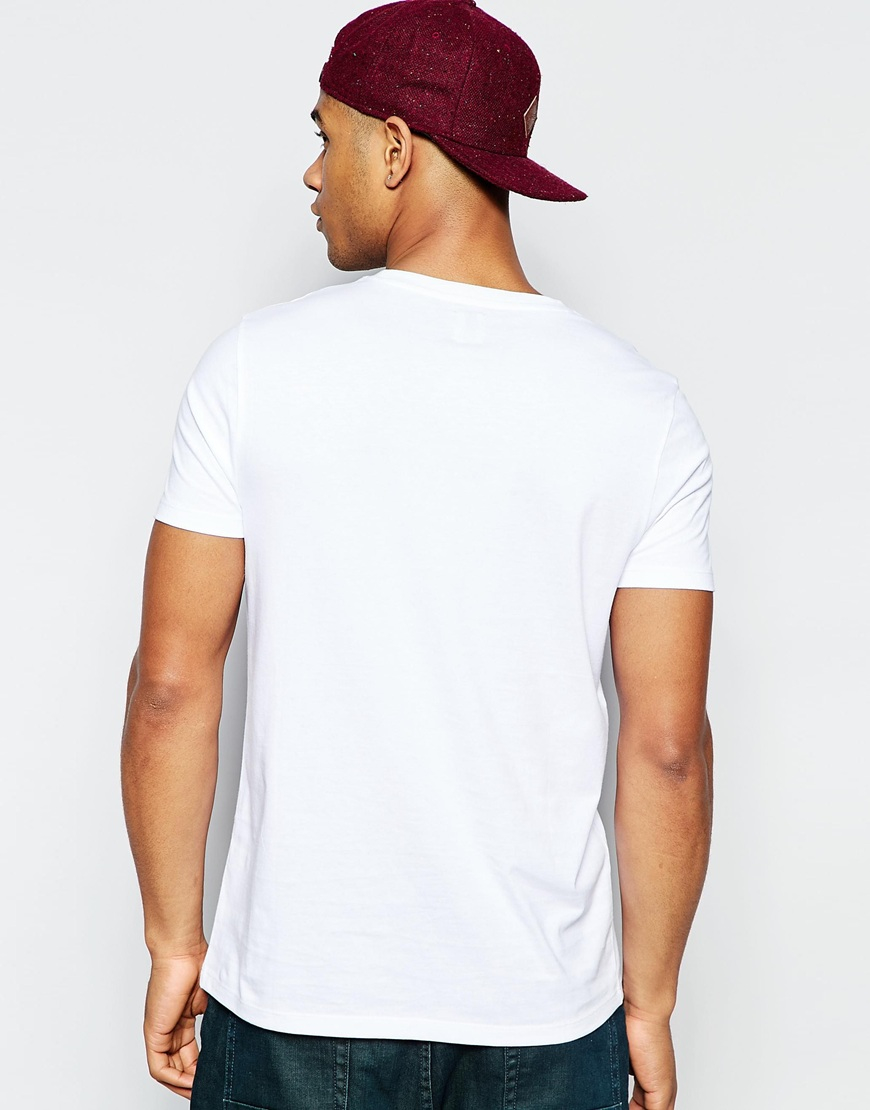 asos t shirt with numerals print in white for men lyst