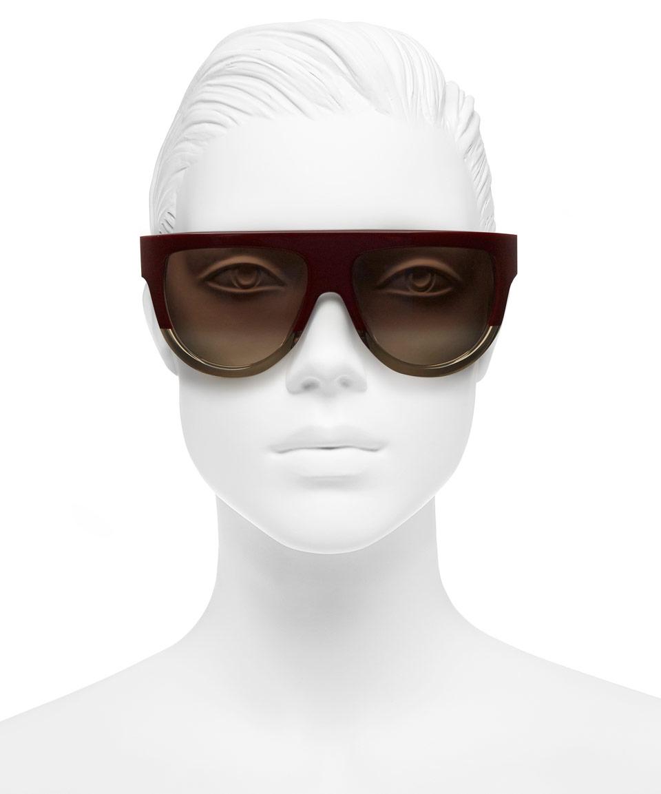 01786affd9c Lyst - Céline Burgundy Shadow Flat Top Sunglasses in Purple
