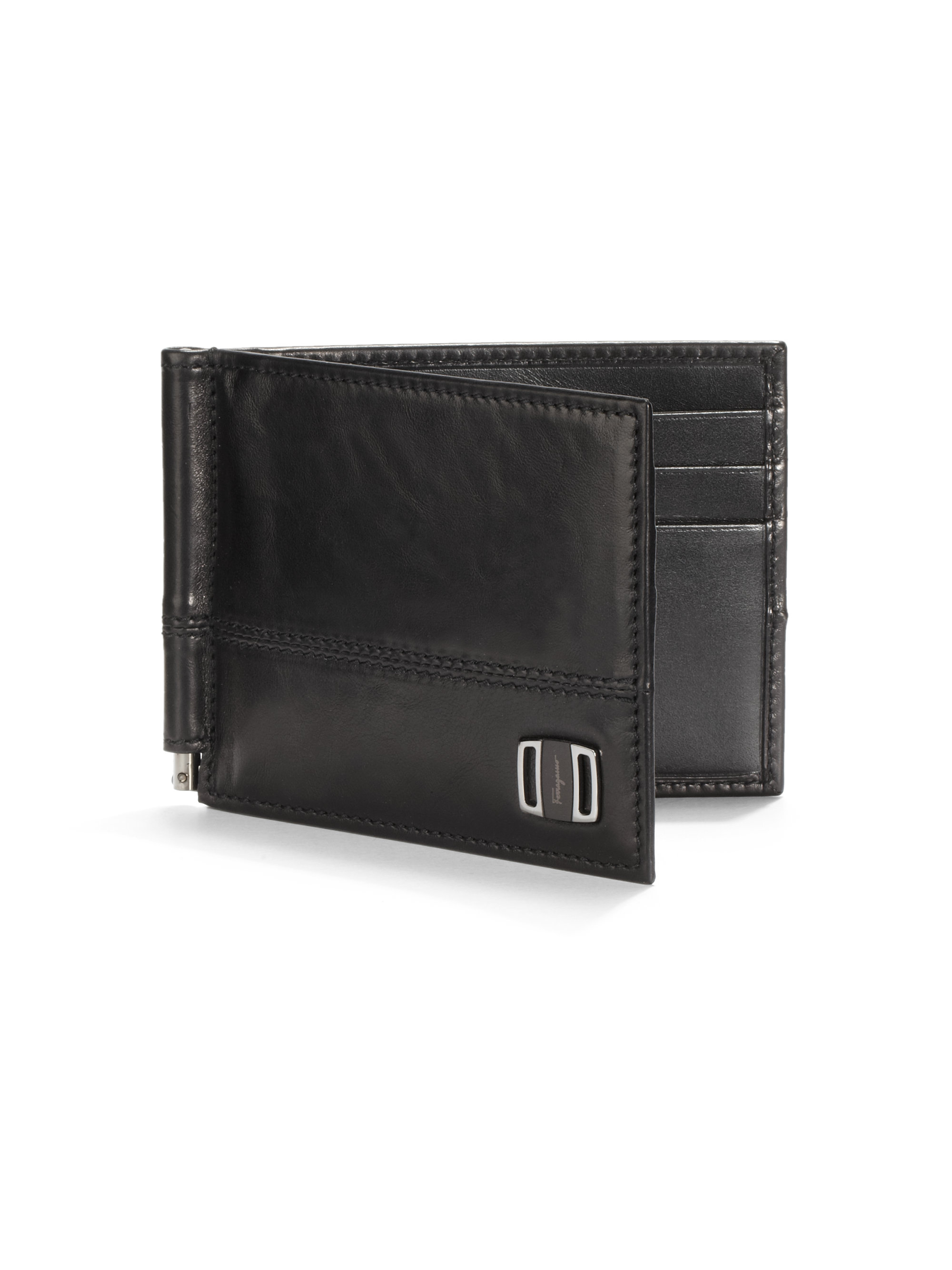 Ferragamo Pierce Leather Bifold Wallet