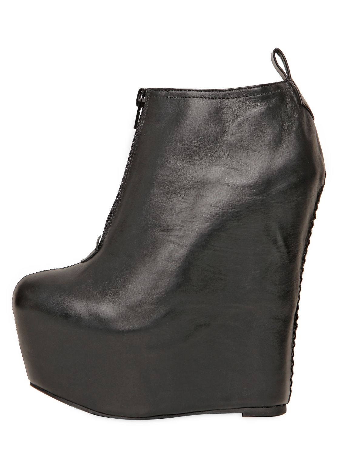 Jeffrey campbell 160mm Two Leather Wedge Ankle Boots in Black | Lyst