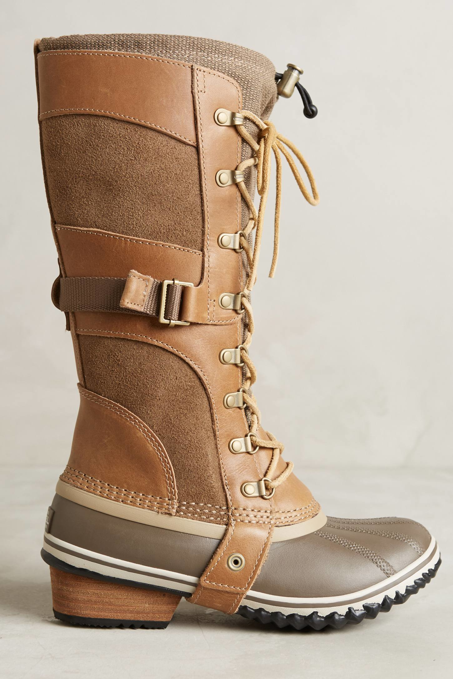 Sorel Conquest Carly Boots In Brown Lyst