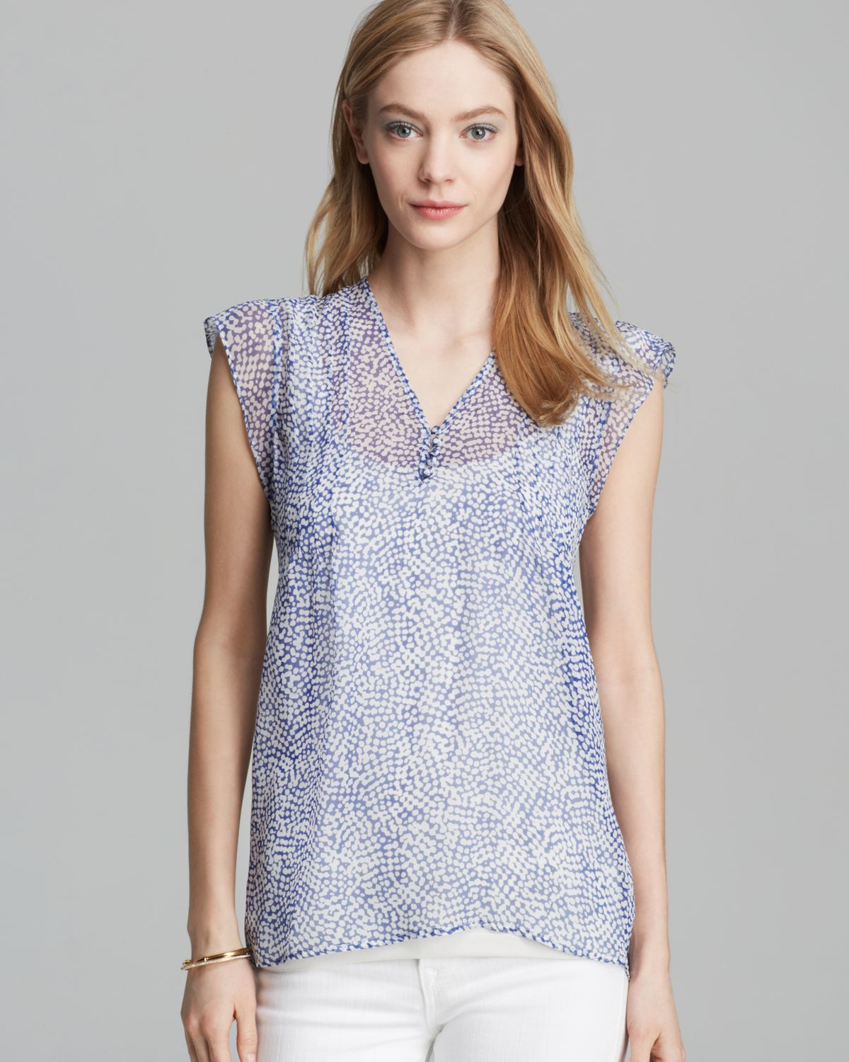 Joie Top Macy B Silk In Blue