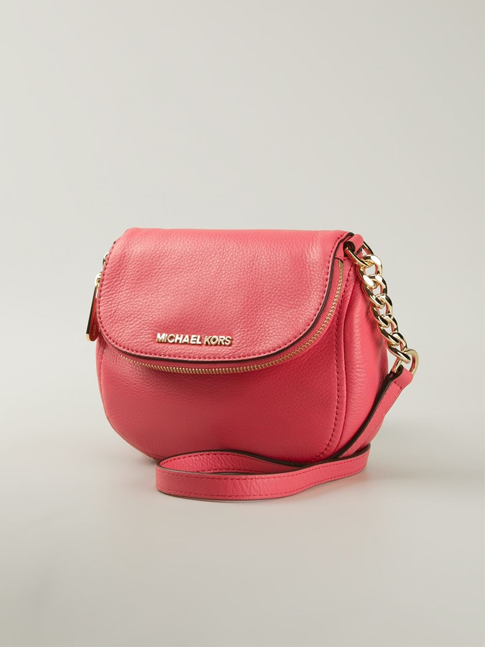 2e472a0b87c979 MICHAEL Michael Kors Bedford Leather Cross-Body Bag in Red - Lyst