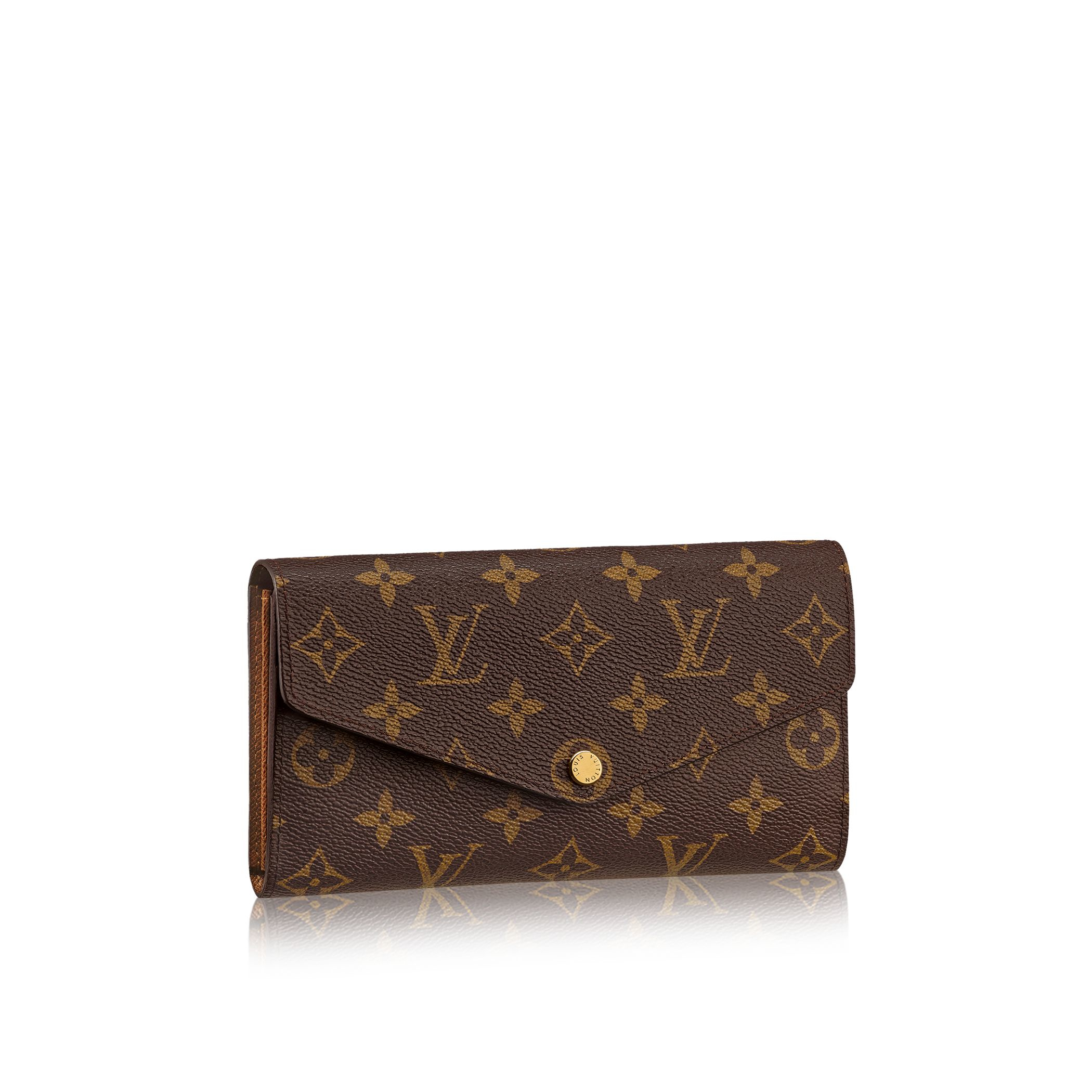 Louis vuitton Sarah Wallet in Brown | Lyst