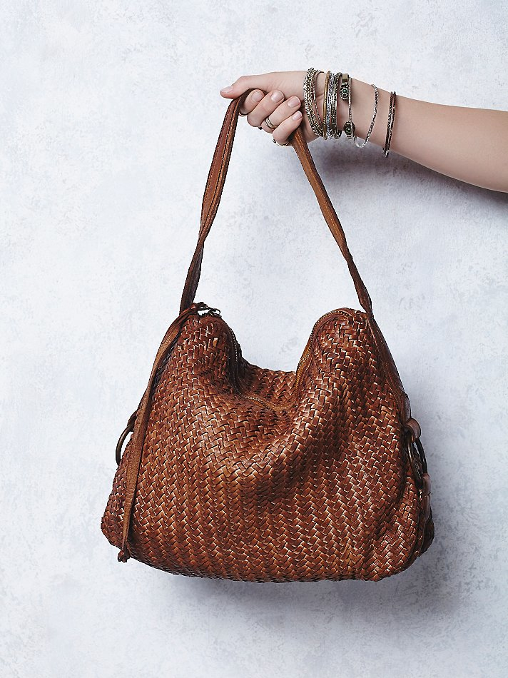 c21554a9f5d5 Lyst - Free People Woven Wishes Leather Tote in Brown