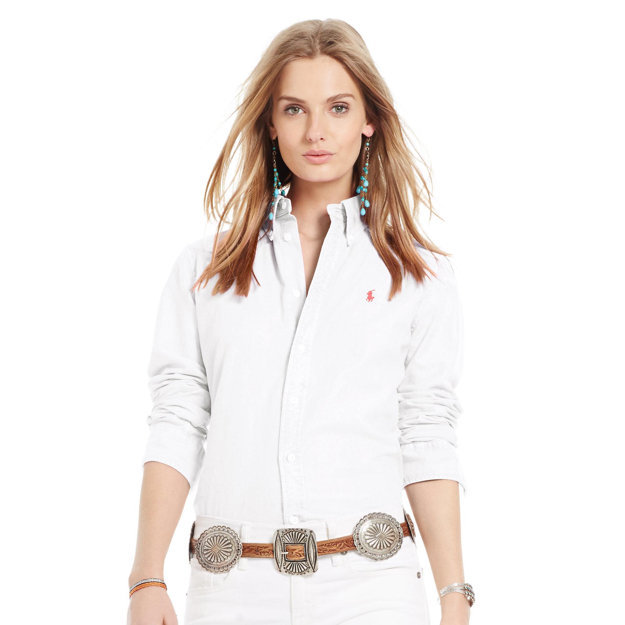 815b83d7f Ralph Lauren Womens Oxford Shirt White - DREAMWORKS