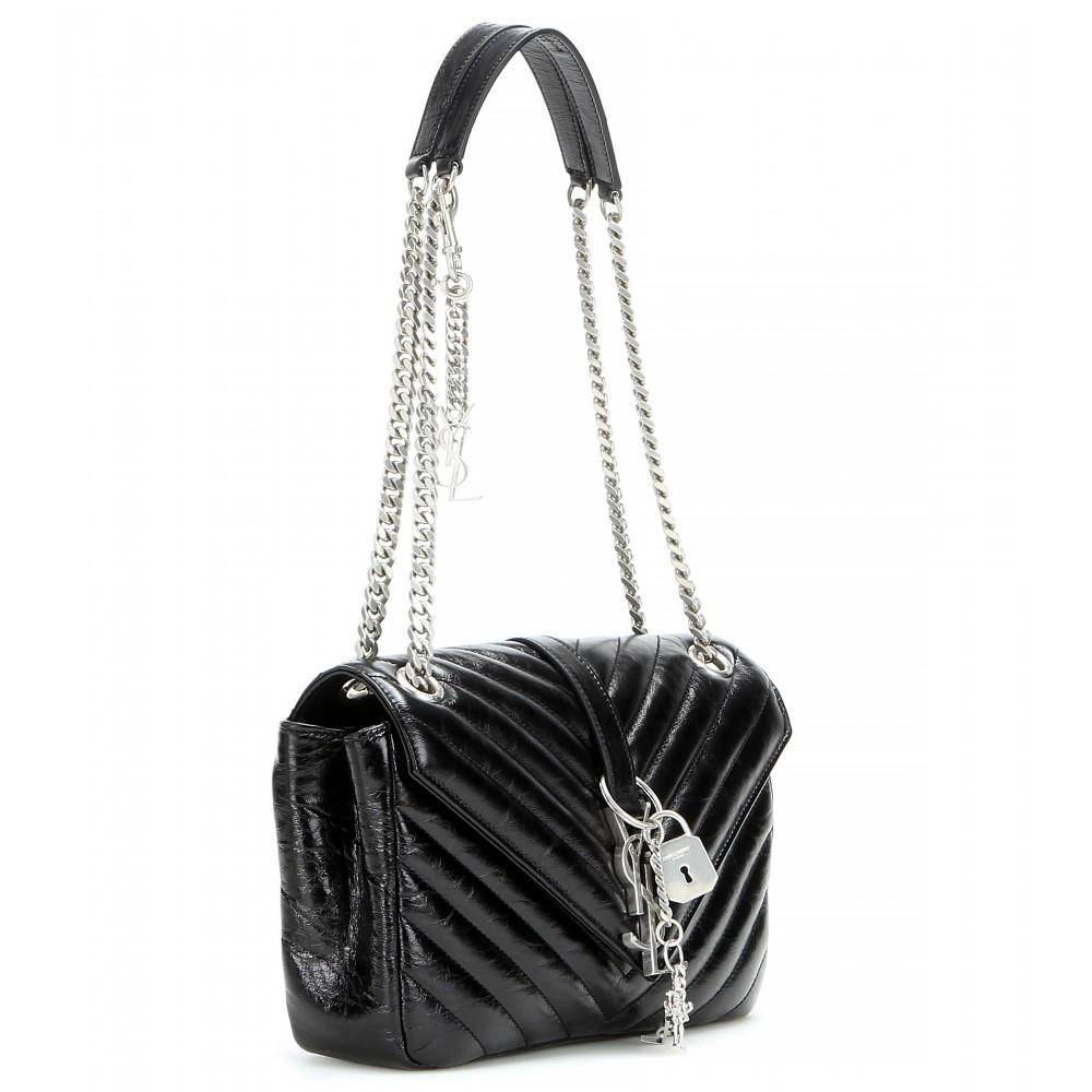 ysl india website - monogram college medium punk chains shoulder bag, black