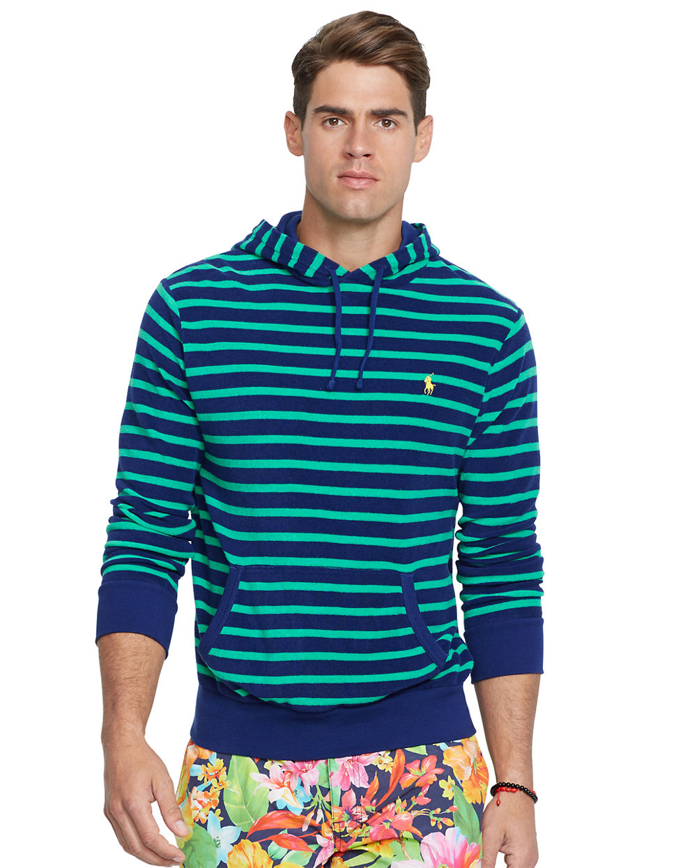 0b2436db9d7e Polo ralph lauren Striped Pullover Hoodie in Blue for Men .