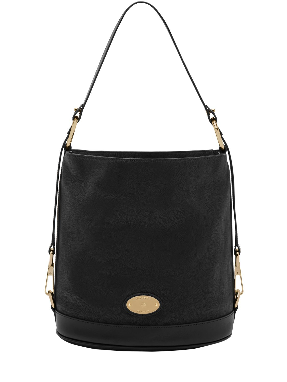 eb59094b59 Mulberry Jamie Washed Leather Bucket Bag in Black - Lyst