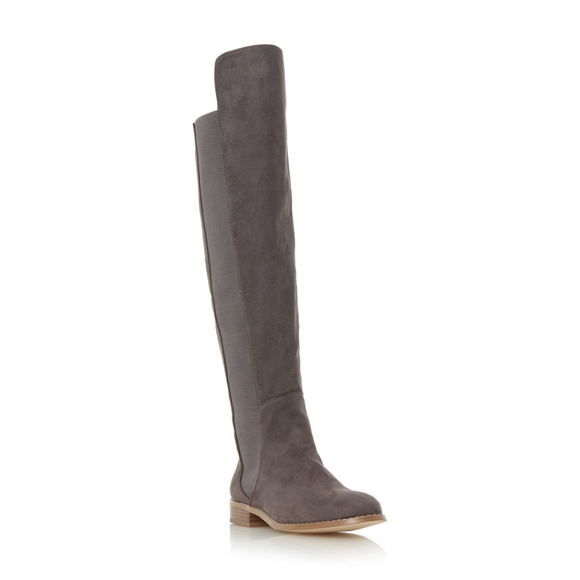 Dune Toulus Over The Knee Flat Boots in Gray | Lyst