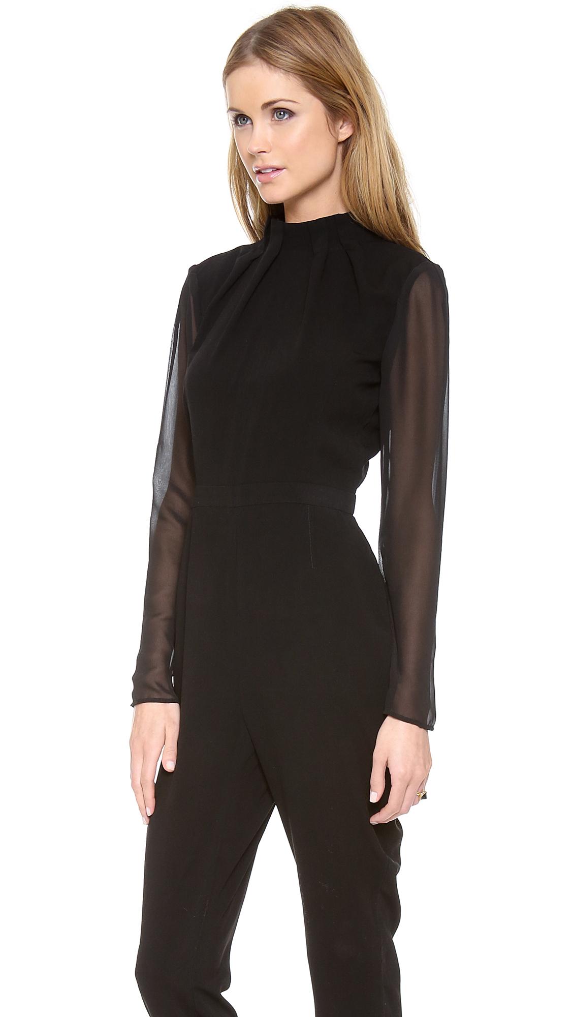 6089cea752 Lyst - Lovers + Friends Monica Rose Maxfield Jumpsuit in Black