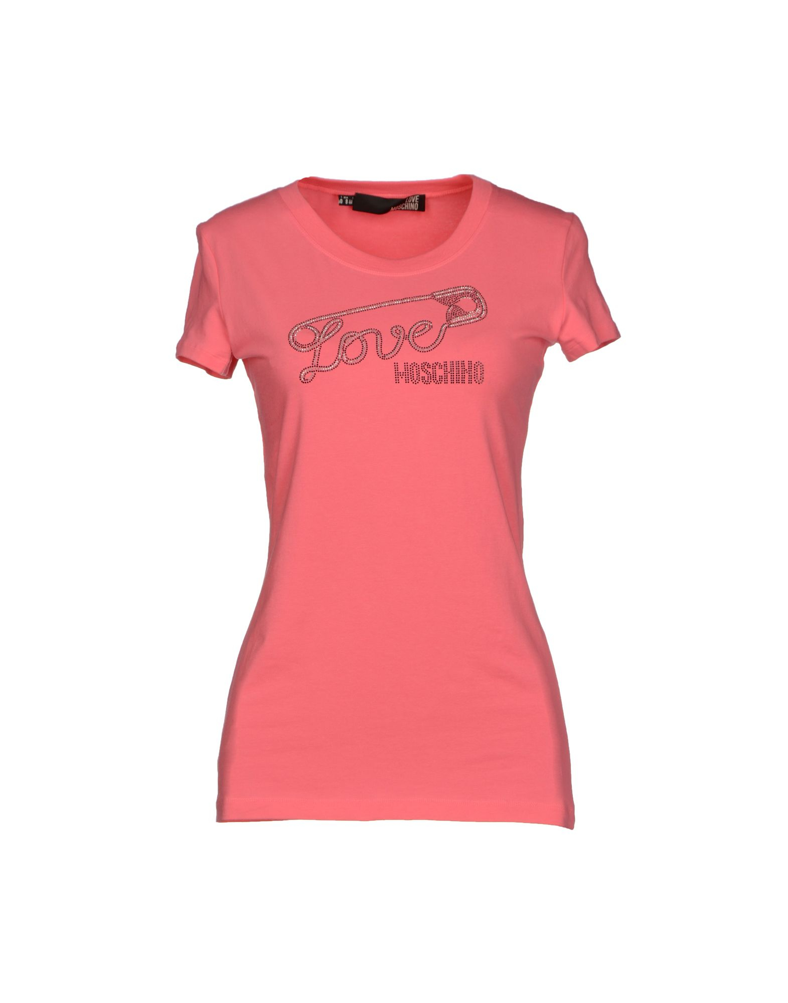 love moschino t shirt in pink light purple lyst. Black Bedroom Furniture Sets. Home Design Ideas