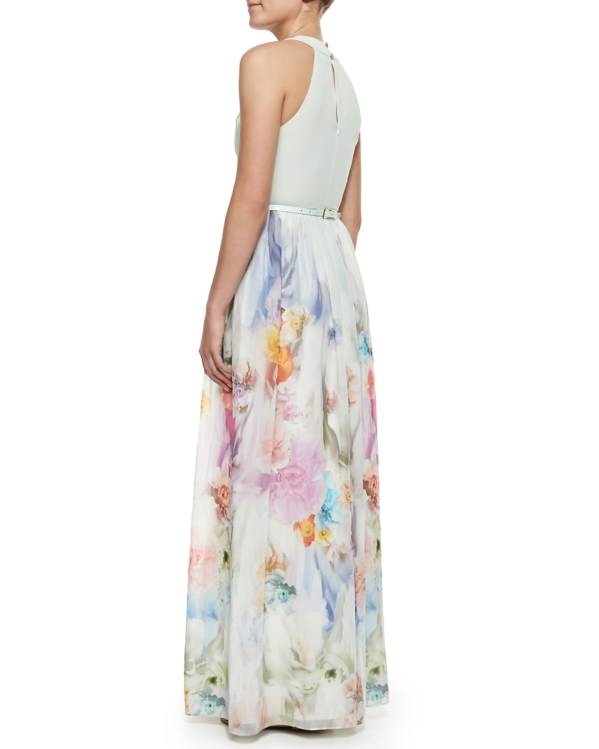 Lyst Ted Baker Beula Floral Print Pleated Maxi Dress