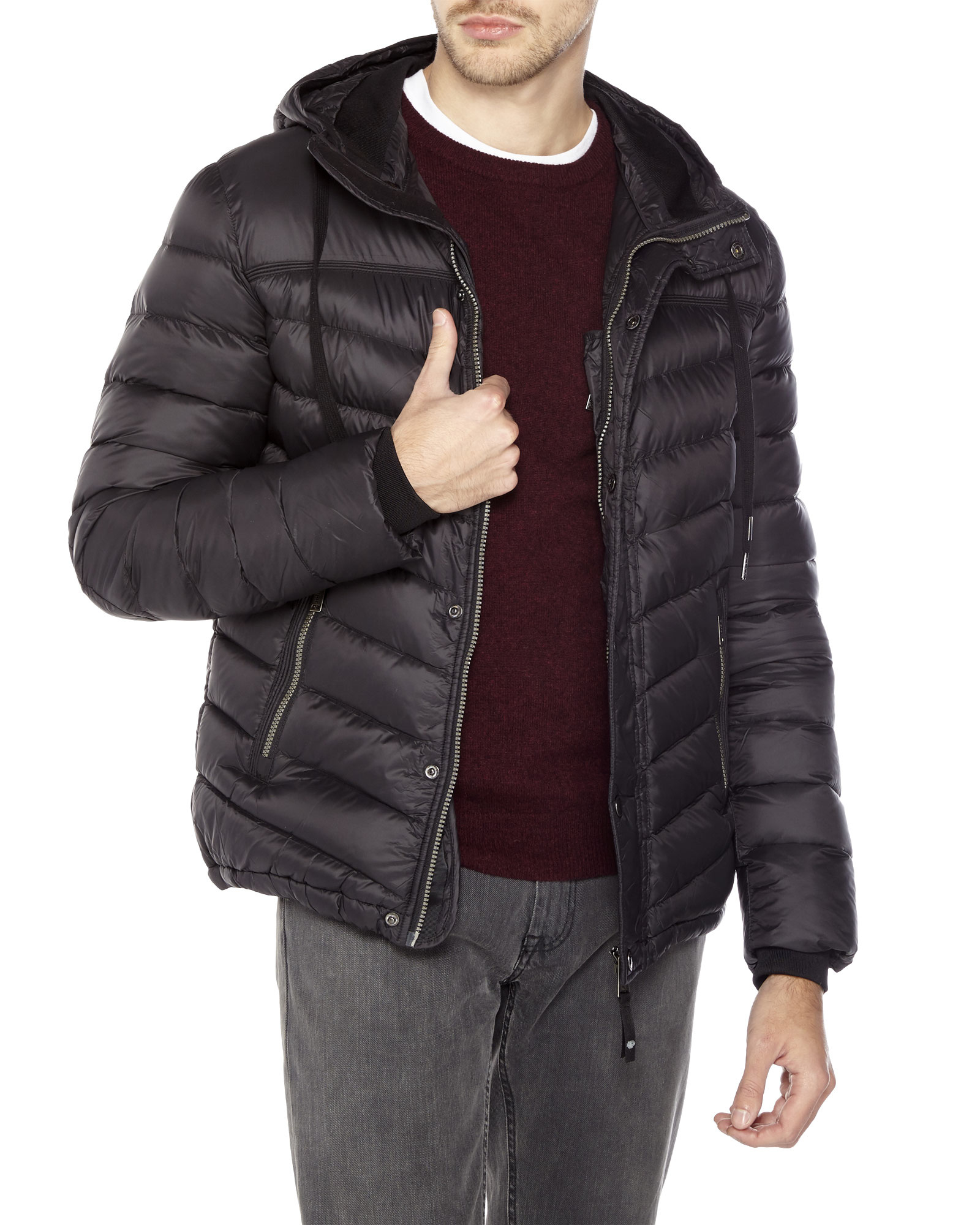 Lyst Pajar Light Weight Hooded Down Puffer Jacket In