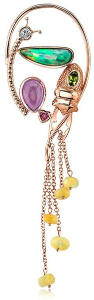 Daniela Villegas Fairy Ear-Cuff in Multicolor (MULTI STONE)
