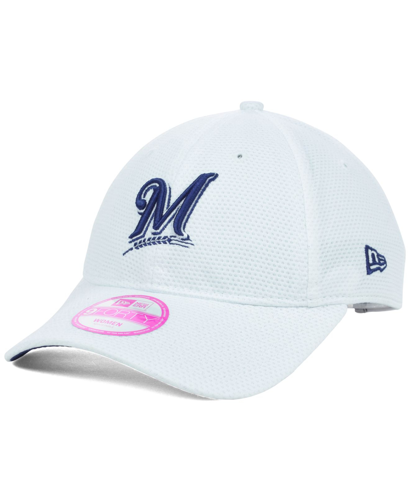 innovative design 11581 d03fe Lyst - KTZ Women S Milwaukee Brewers Tech Essential 9Forty Cap in White