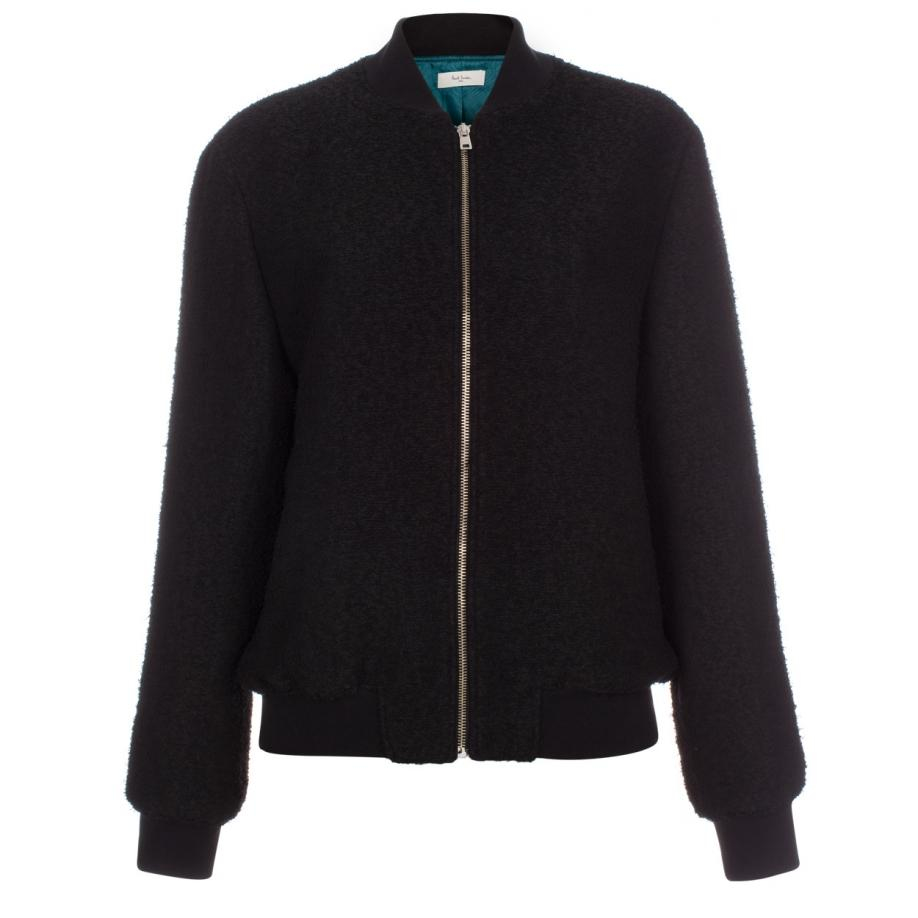 paul smith woolblend bomber jacket in black lyst