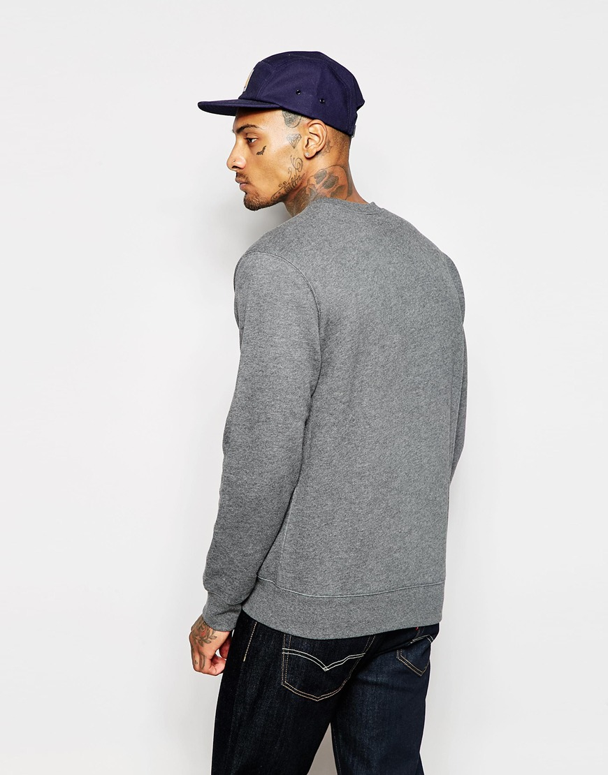 Carhartt script embroidered sweatshirt in gray for men lyst