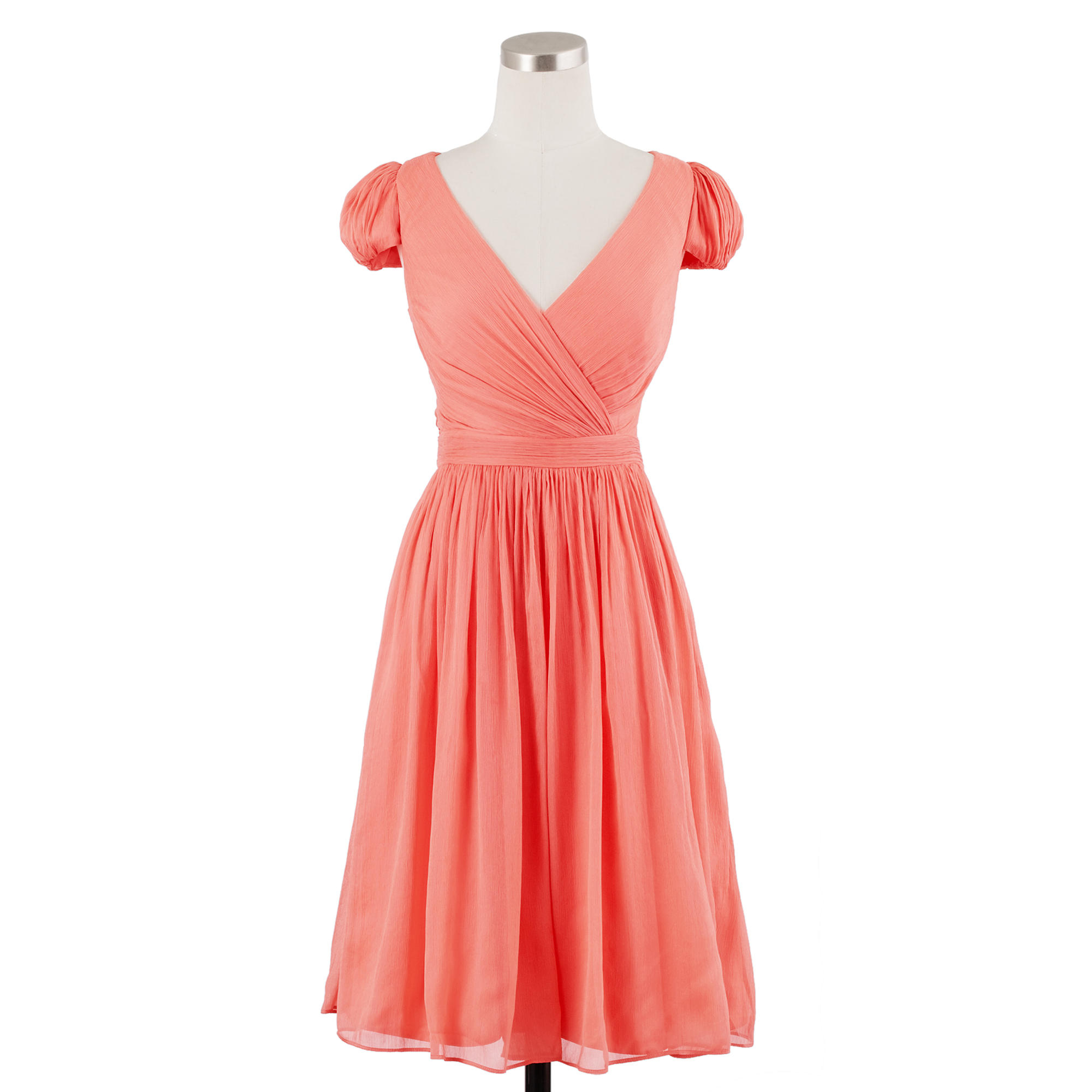 9c1836e93d Lyst - J.Crew Petite Mirabelle Dress In Silk Chiffon in Pink