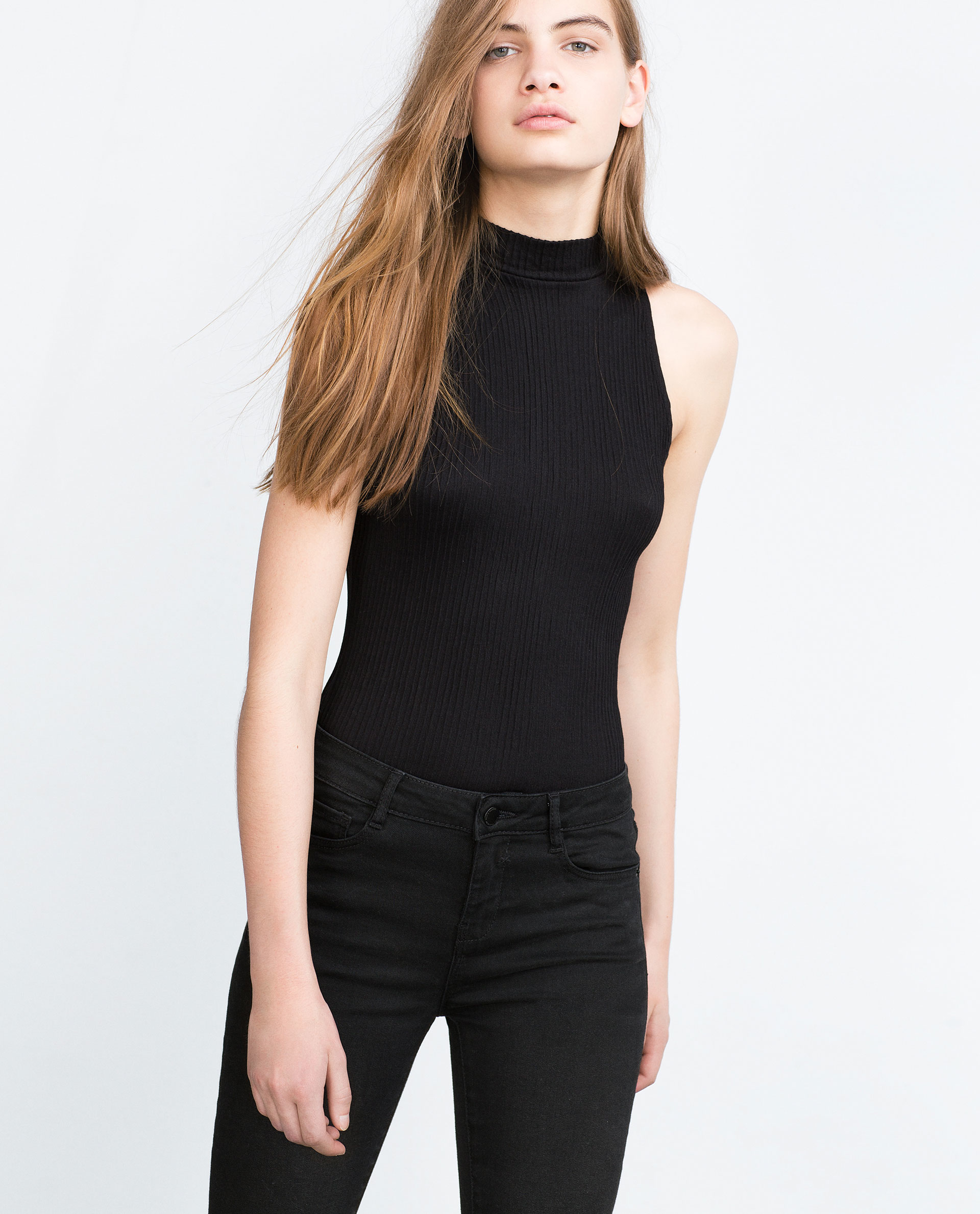 Zara High Neck Bodysuit in Black