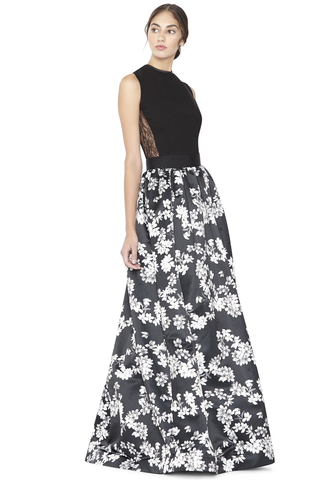 Lyst - Alice + Olivia Tina Long Ball Gown Skirt in Gray