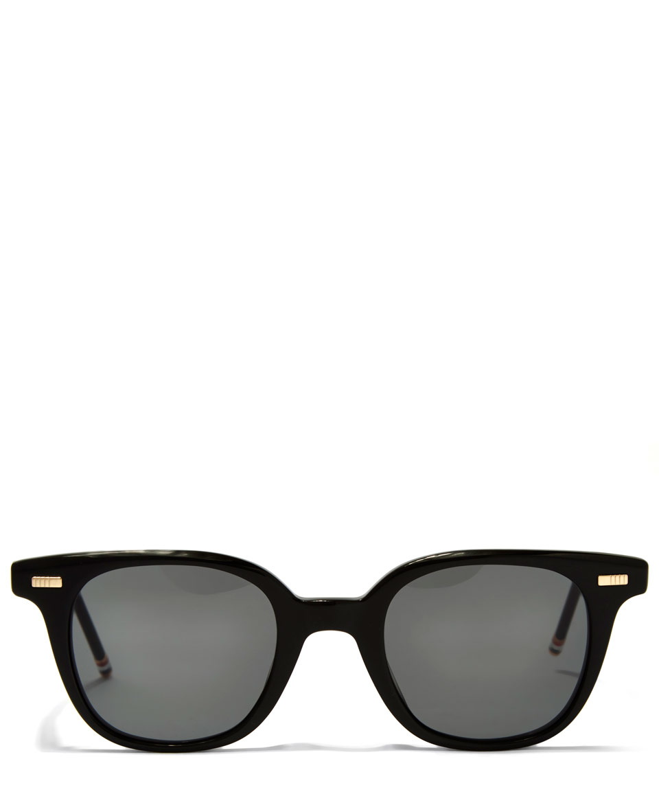Rounded Square Sunglasses  thom browne black rounded square sunglasses in black for men lyst