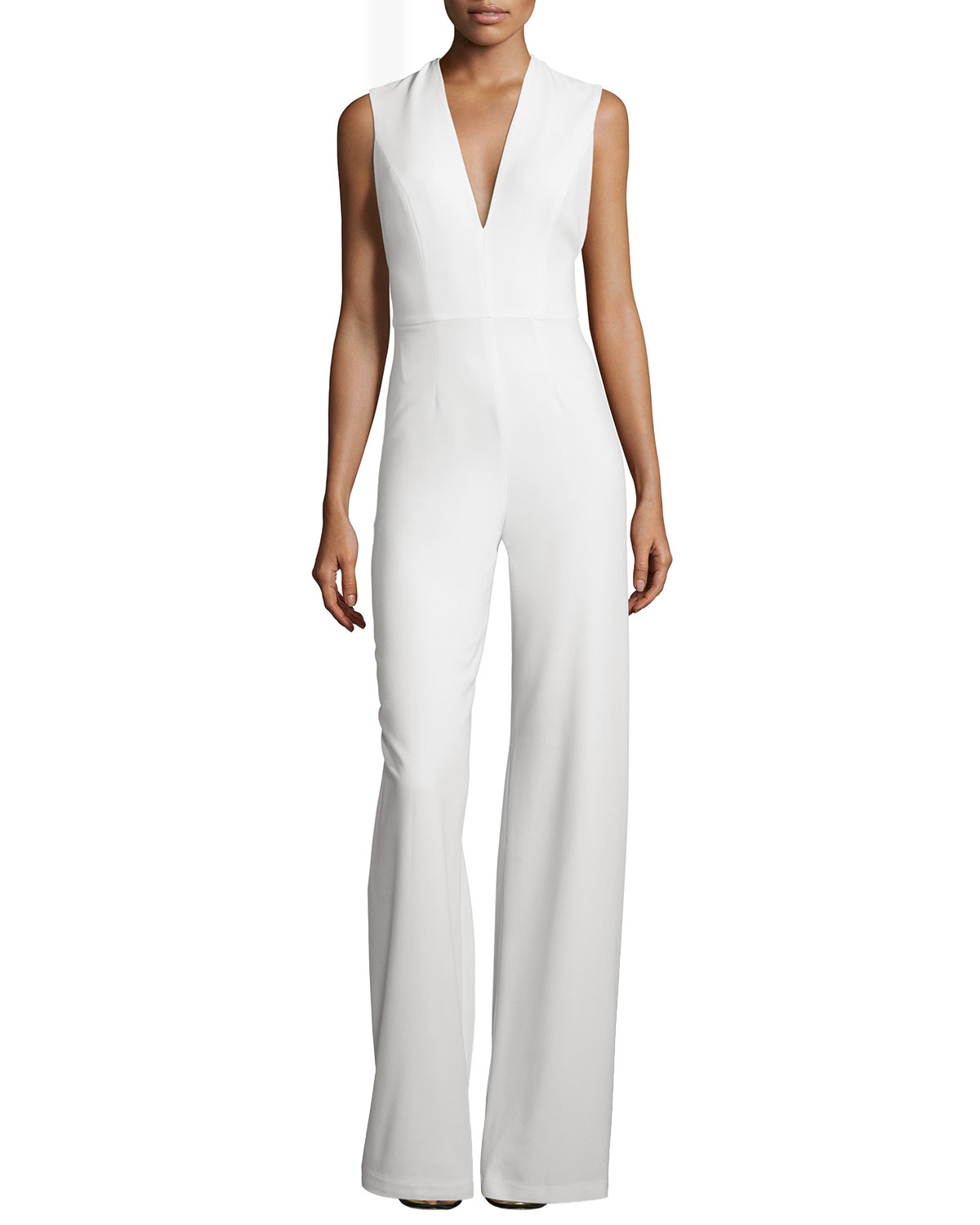 015ba2b1958 Lyst - Alexis Amadeo Sleeveless V-neck Jumpsuit With Cape in White
