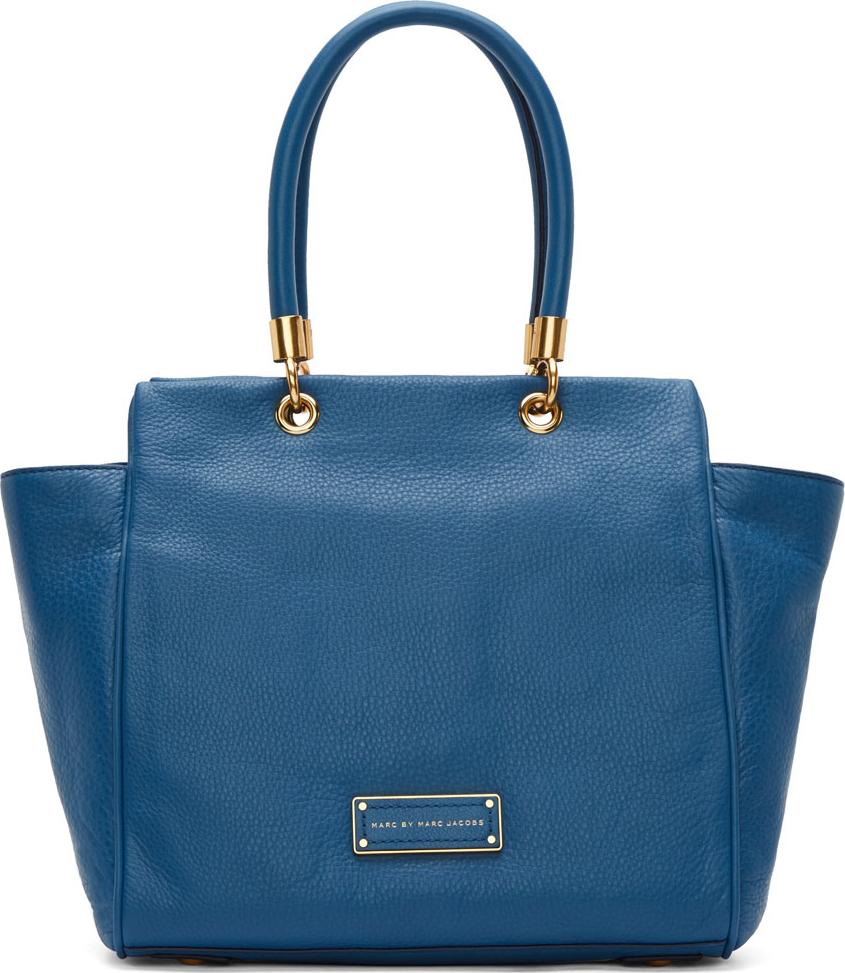 Marc By Marc Jacobs Blue Leather Bentley Shoulder Bag In