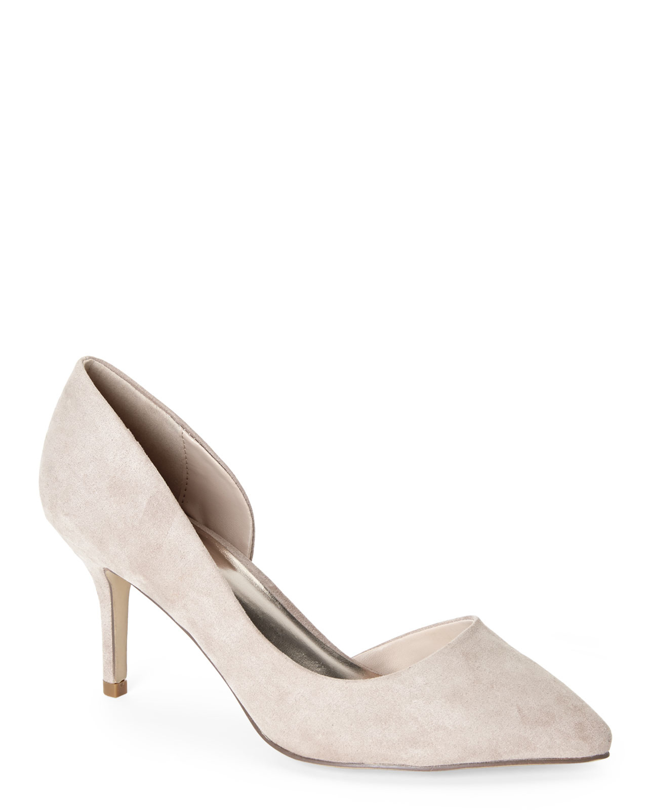 Madden Girl Taupe Kopy Kat D'Orsay Pumps In Gray