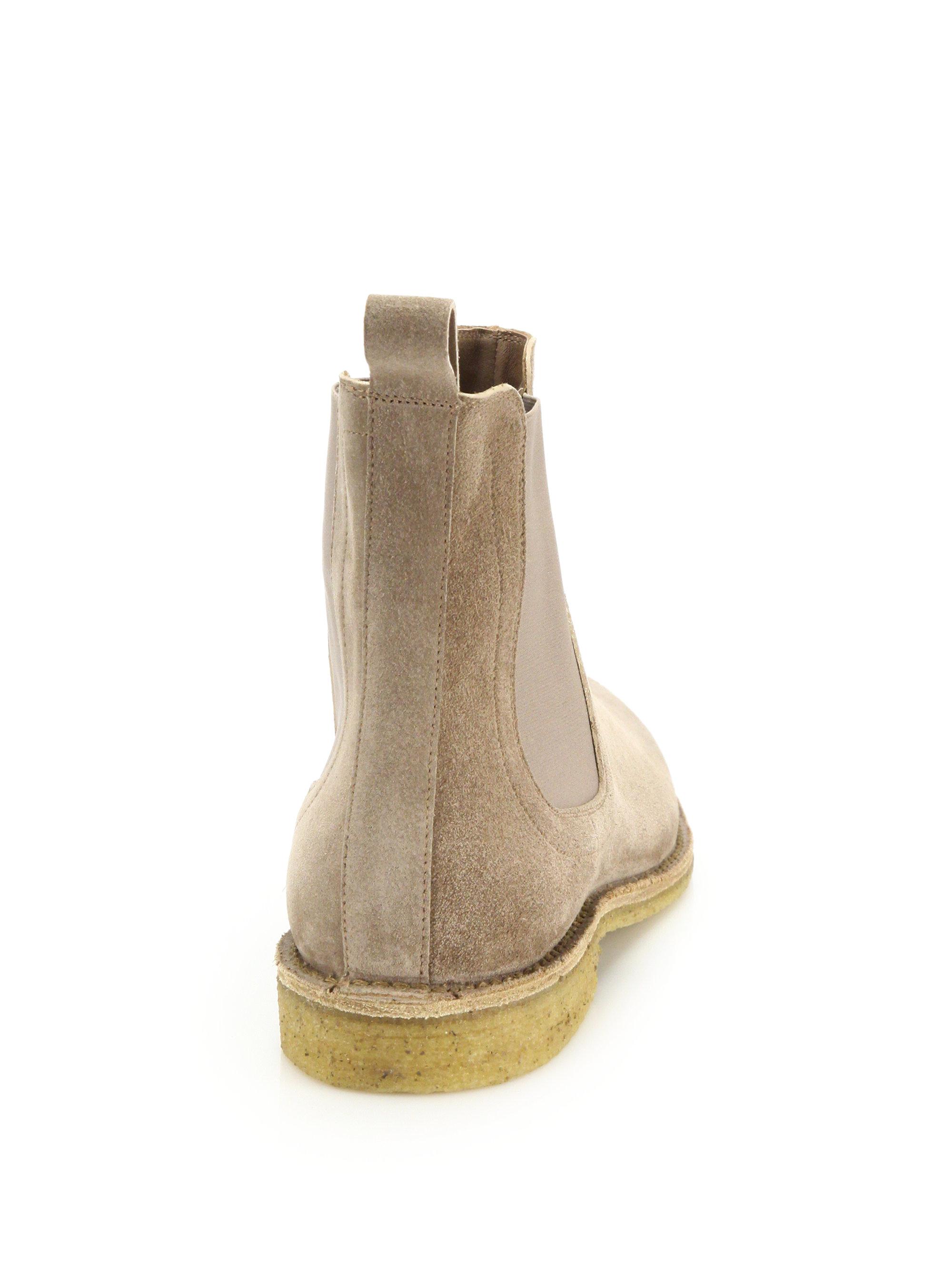 Brilliant Bottega Veneta Suede Chelsea Boots In Gray For Men  Lyst