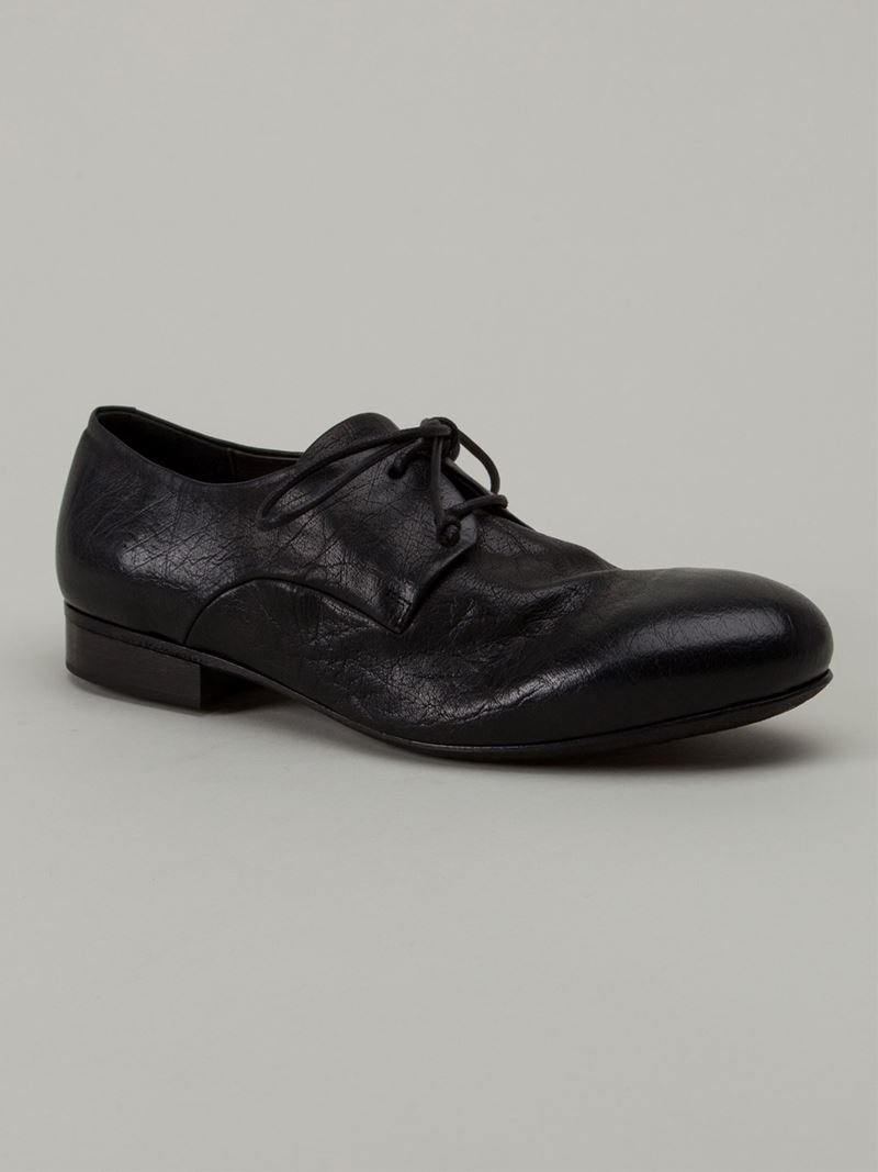 distressed derby shoes - Black Mars��ll 90g9wS