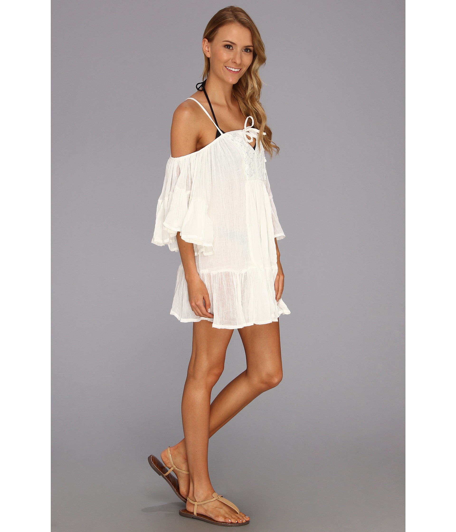 a77c01d2a6ab2 Roxy Beach Dreamer Cover Up in White - Lyst
