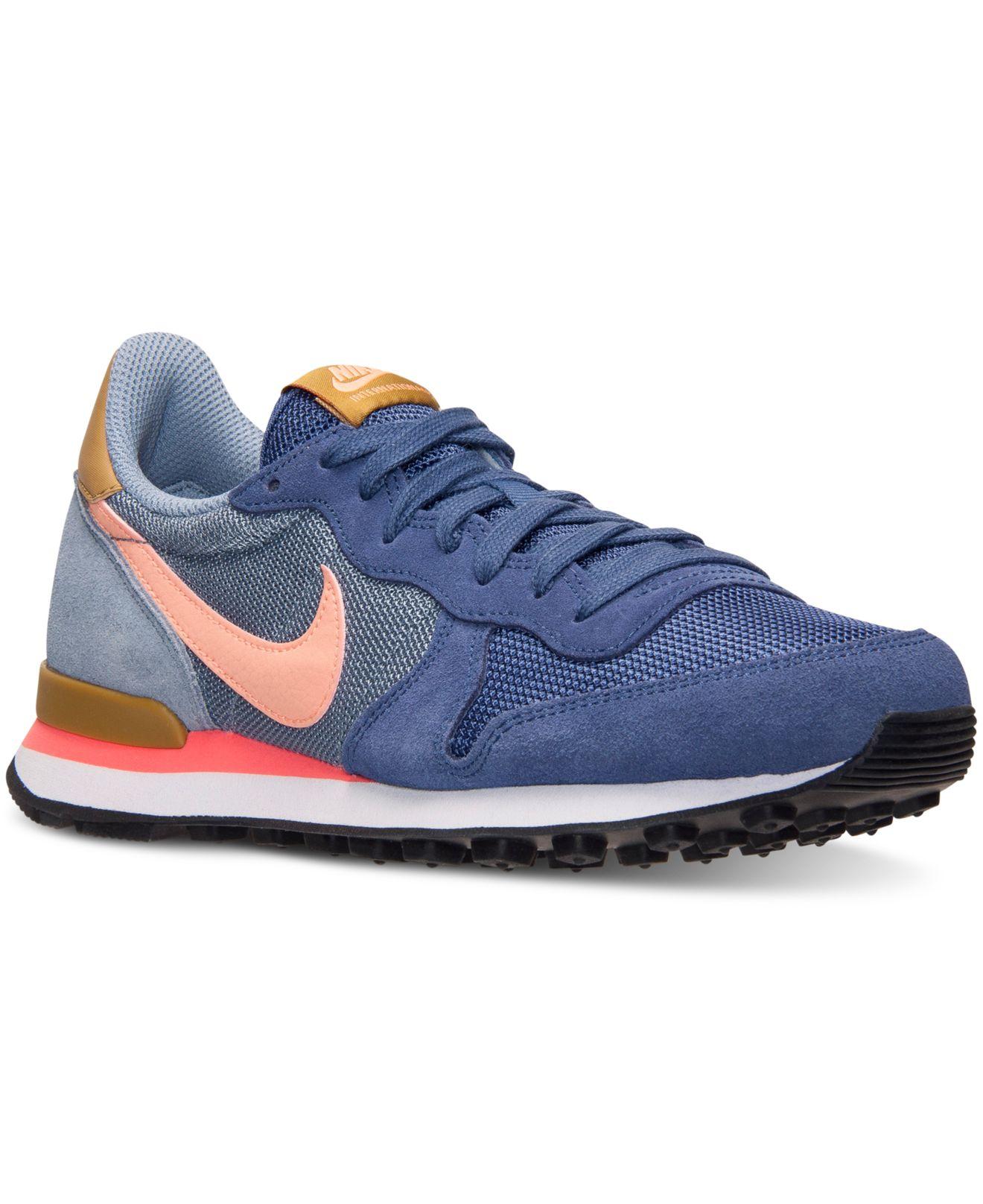 b182be4687e Lyst - Nike Women s Internationalist Casual Sneakers From Finish ...