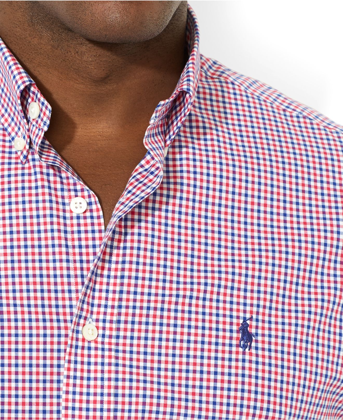 2fcf3d275 Polo Ralph Lauren Shirt In Slim Fit Red Gingham Short Sleeves in ...