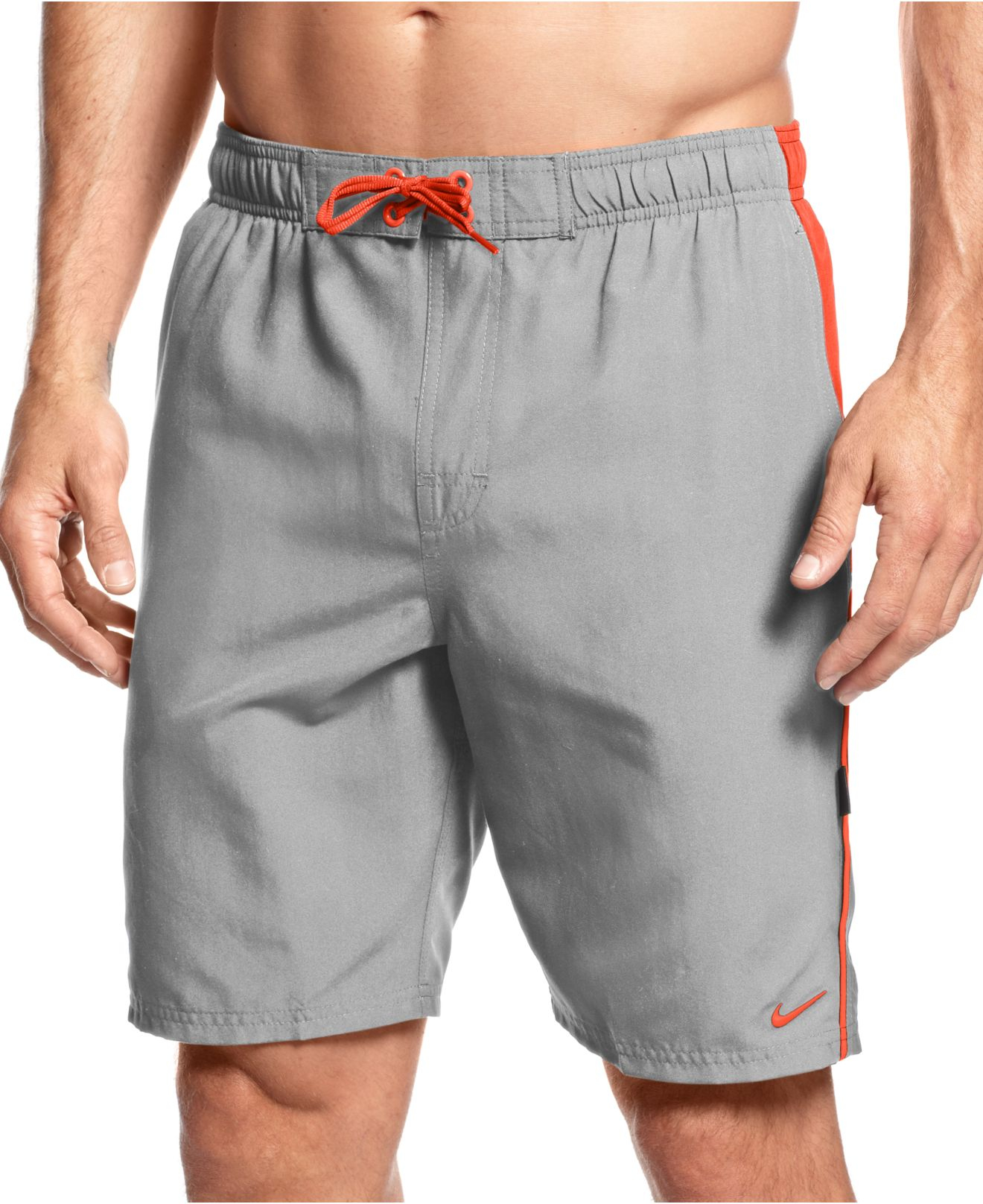 6e909f57d6 Nike Big And Tall Volley Swim Trunks in Gray for Men - Lyst