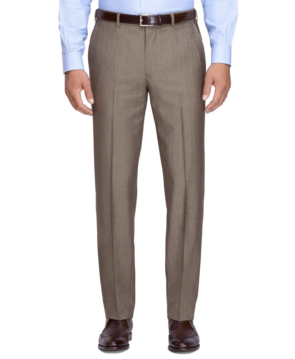 Brooks brothers fitzgerald fit mohair trousers in brown for Brooks brothers dress shirt fit guide
