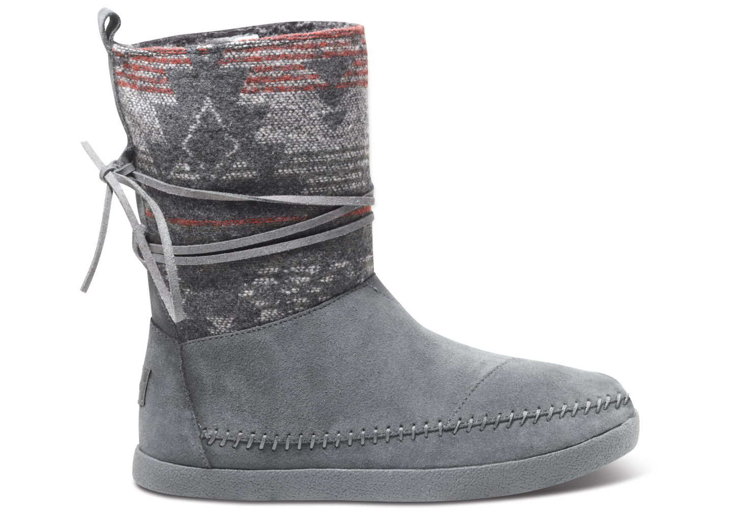 7b961e175 TOMS Grey Suede Jacquard Women's Nepal Boot in Gray - Lyst