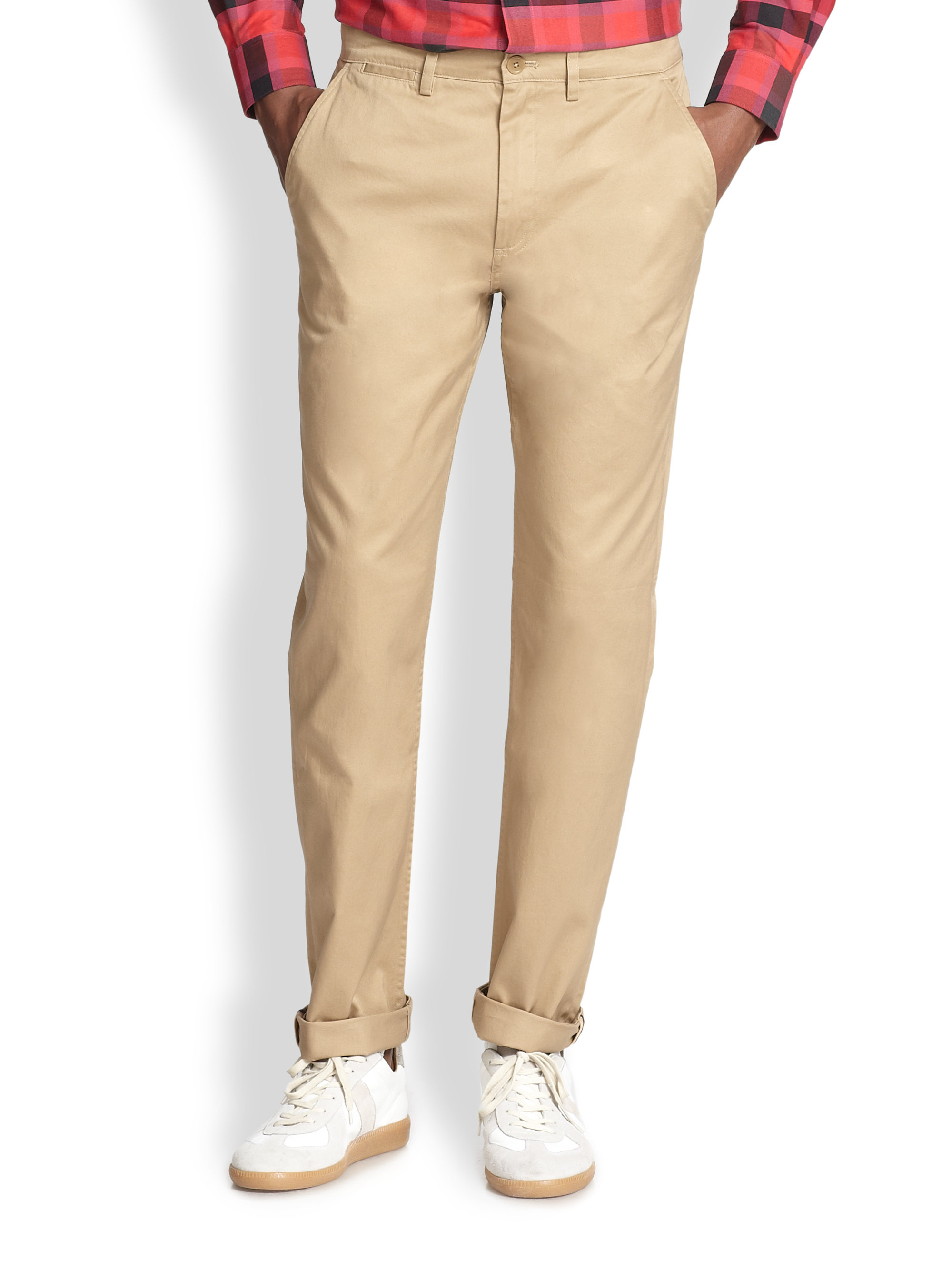 Fred perry Classic Twill Chinos in Natural for Men | Lyst