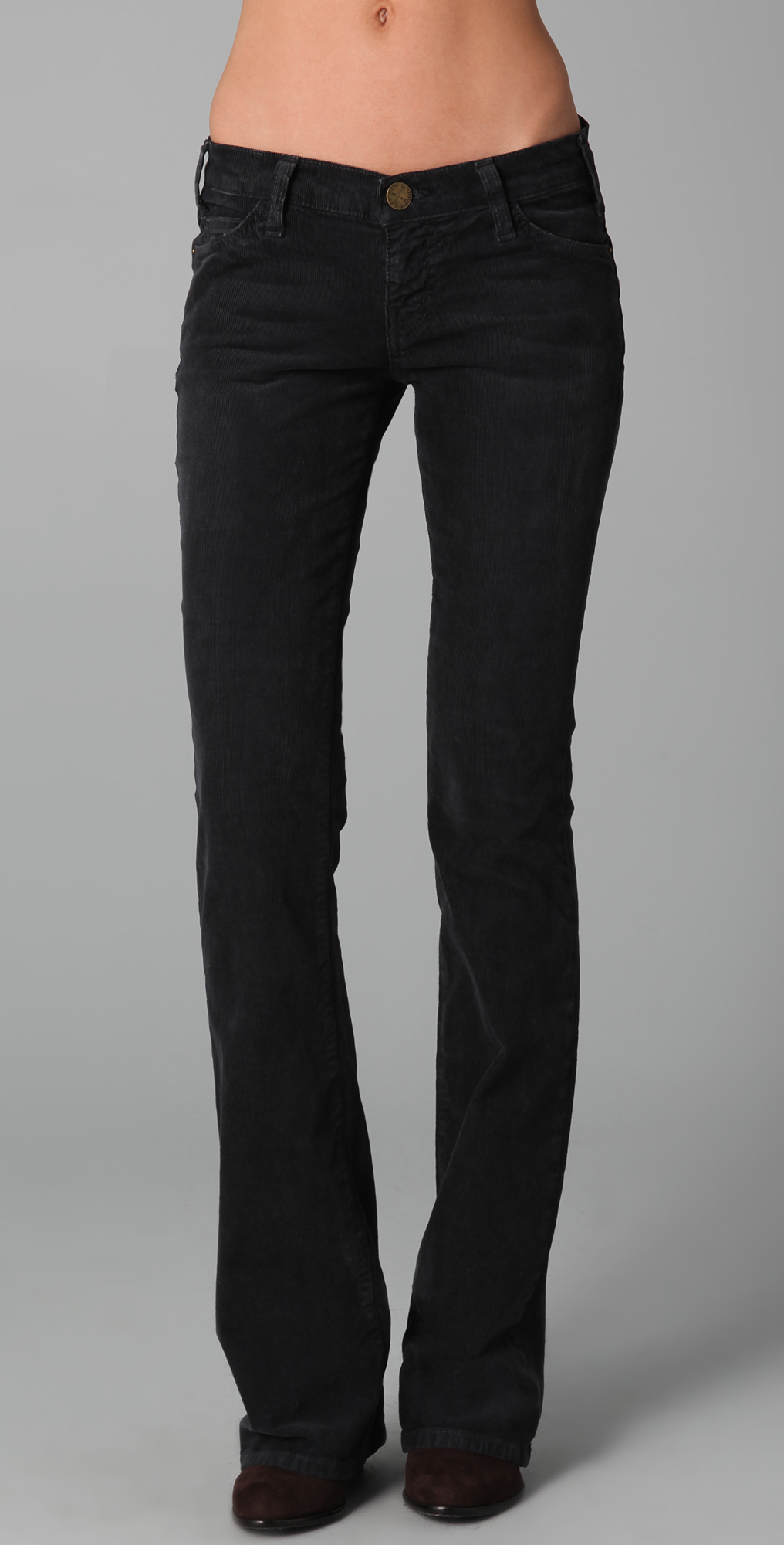 Current/elliott The Cowboy Corduroy Pants in Black | Lyst