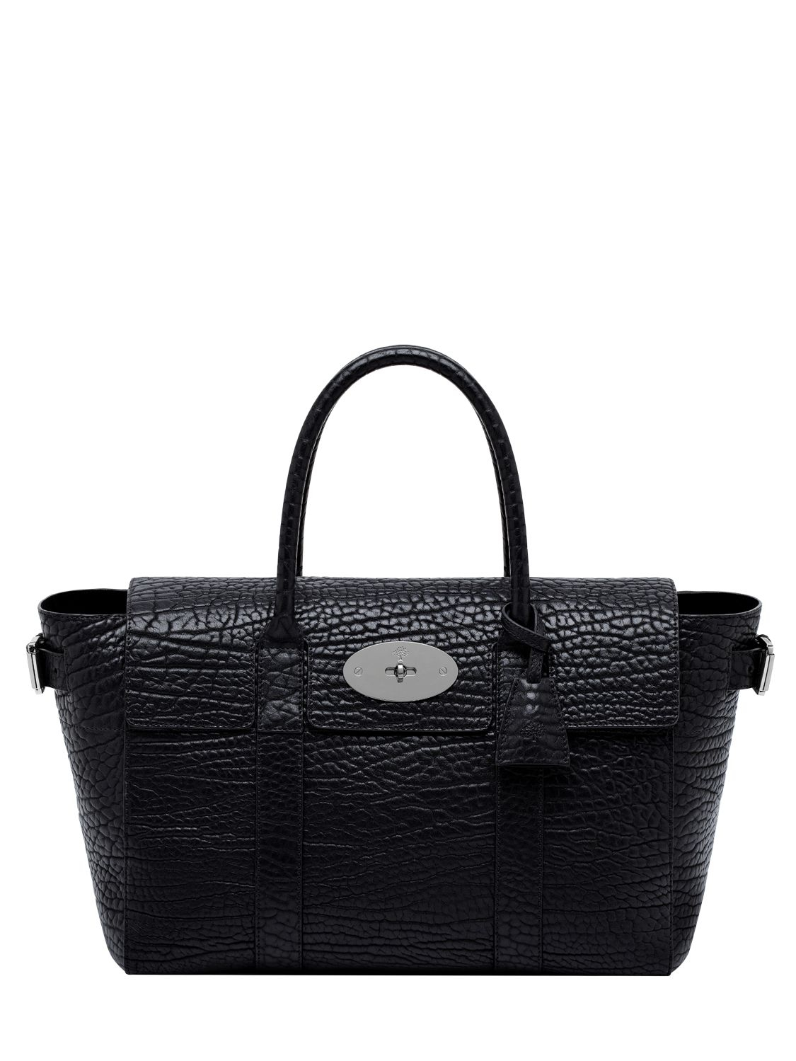 Mulberry Large Bayswater Shrunken Leather Bag in Black  0c1665a363b14