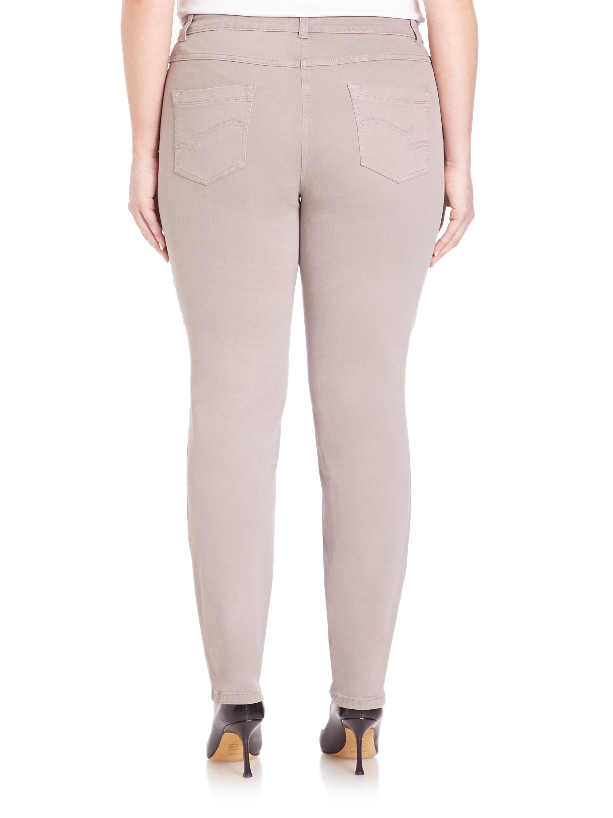 Lyst Basler Julienne Bi Stretch Twill Jeans In Gray