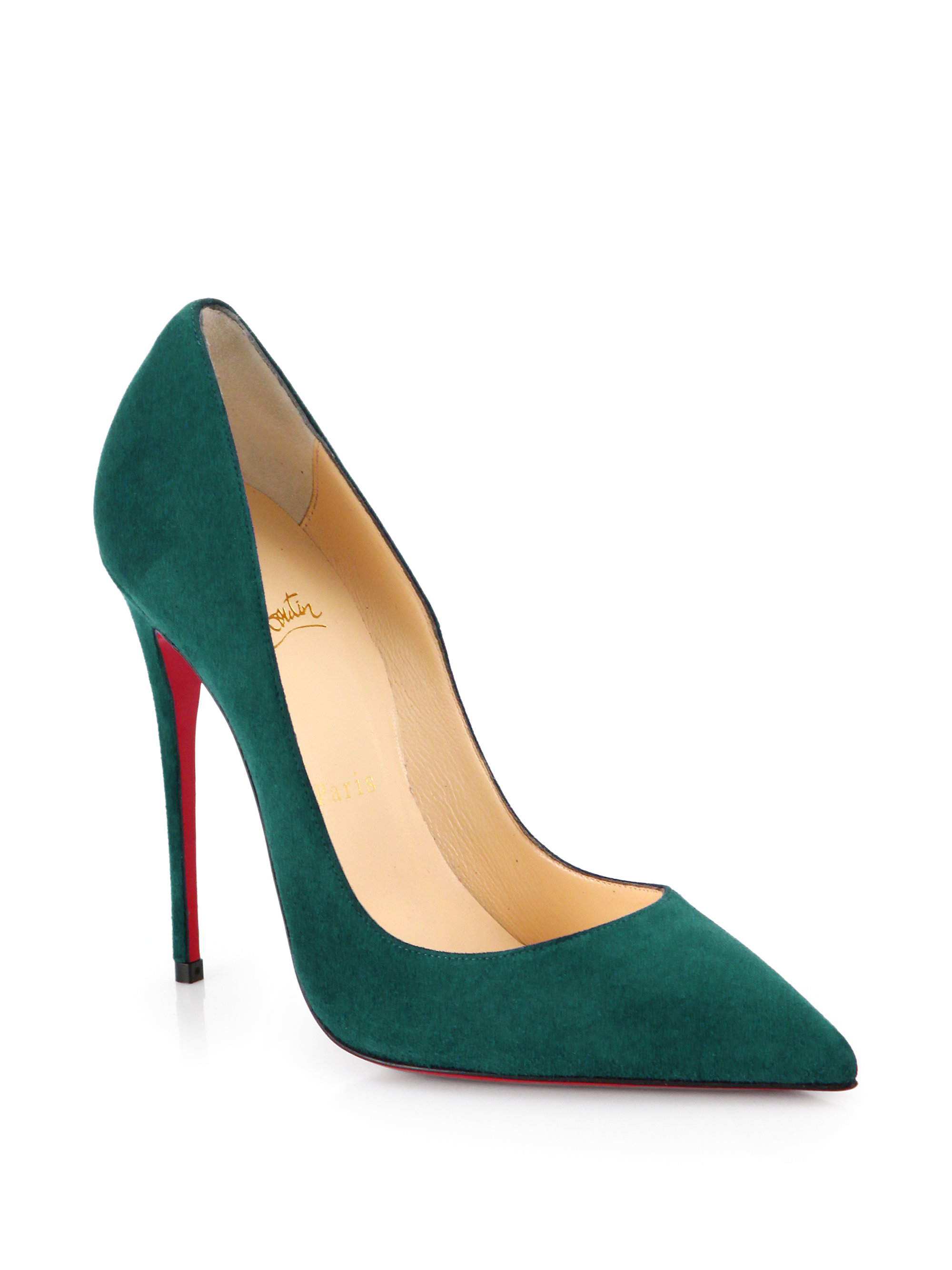 c9574027b2f Lyst - Christian Louboutin So Kate Suede Pumps in Green