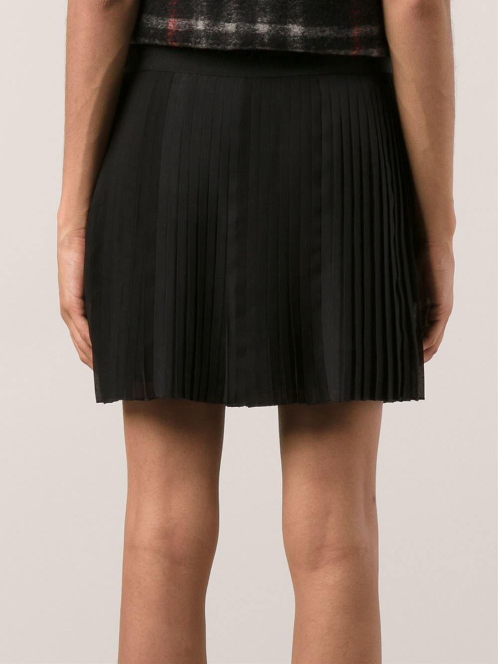 Vanessa bruno athé 'Babethe' Pleated Mini Skirt in Black | Lyst