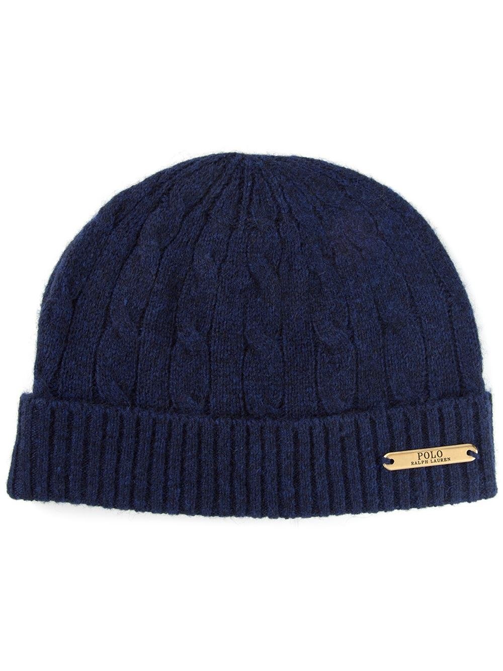Lyst Polo Ralph Lauren Cable Knit Beanie In Blue For Men