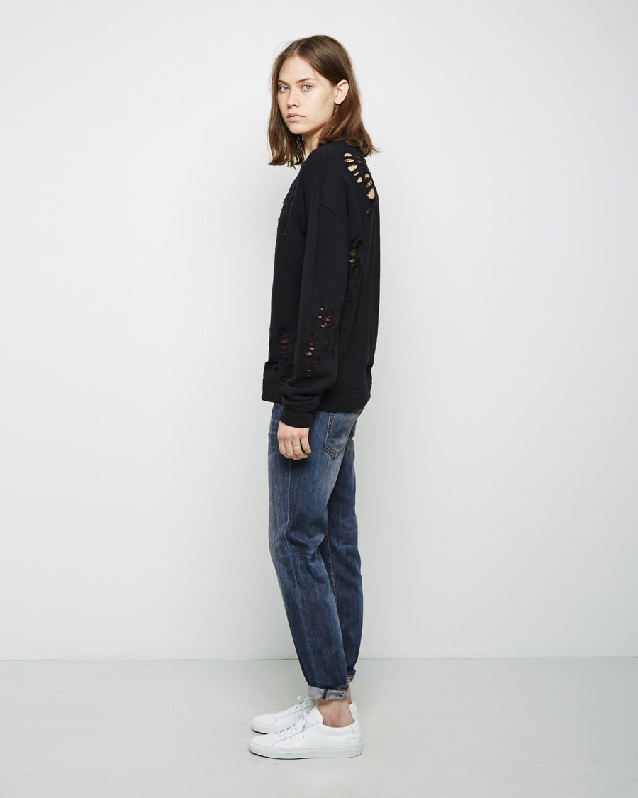 98f4889ecf4cdc R13 Relaxed Skinny Jean in Blue - Lyst