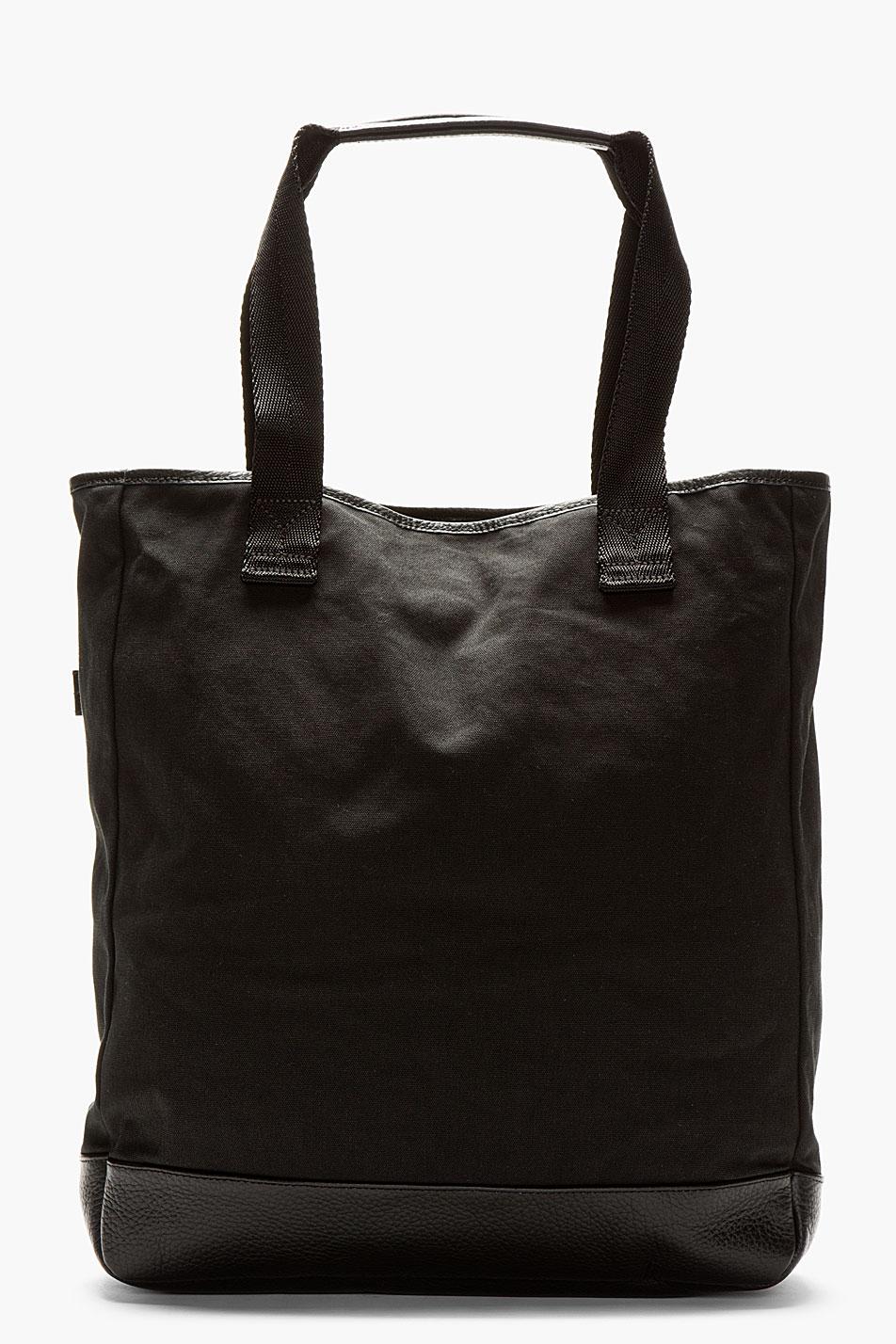 Y-3 Ink Black Canvas Shopper Tote Bag in Black for Men | Lyst