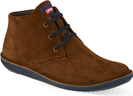 Camper Beetle Suede Chukka Boots For Men In Brown For