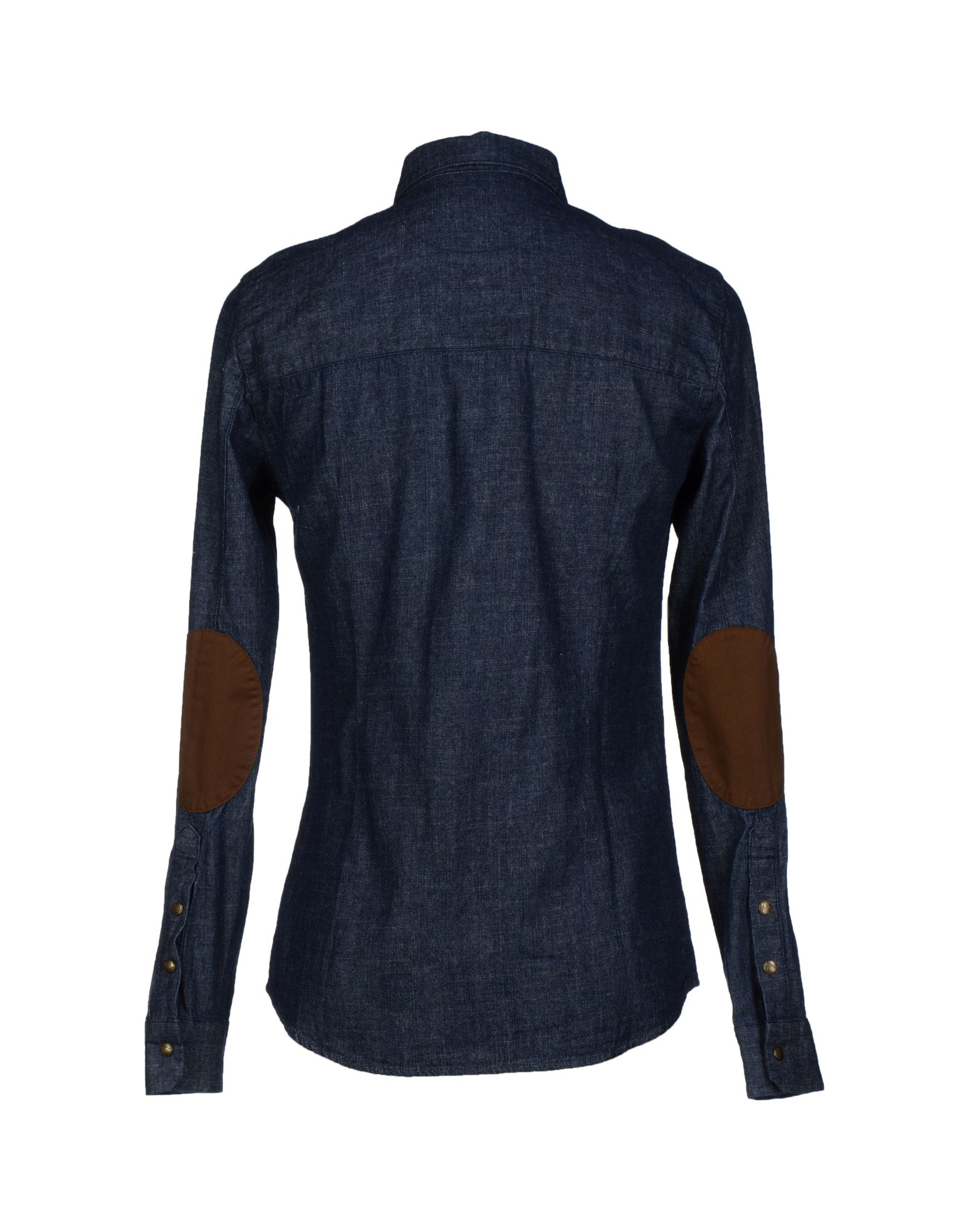 eleven paris denim shirt in blue for men lyst. Black Bedroom Furniture Sets. Home Design Ideas