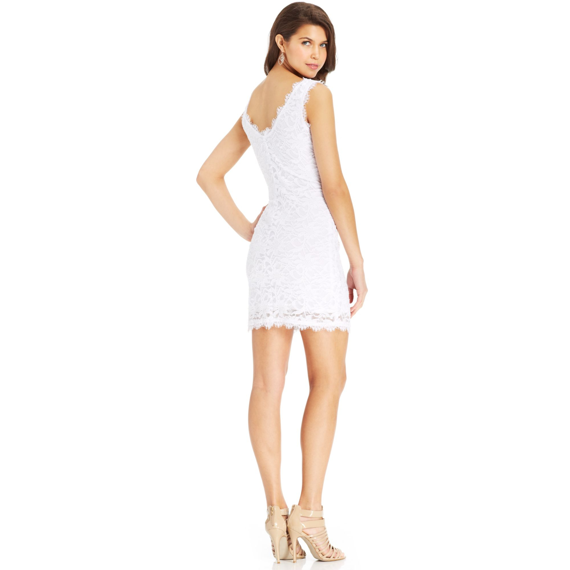 e2afa783cd Lyst - Jump Juniors Sleeveless Lace Dress in White
